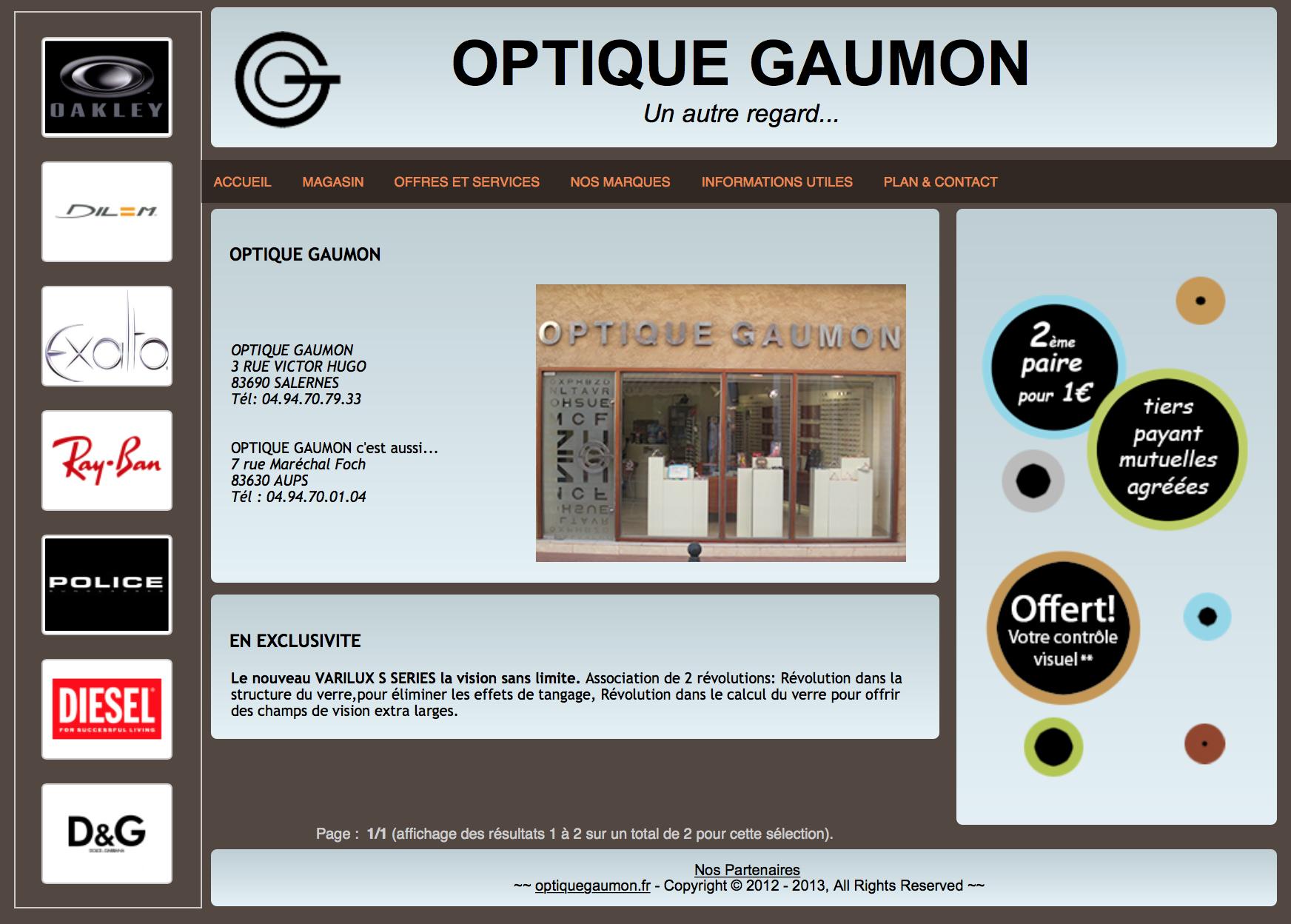Optique Gaumon – Somlette Opticiens